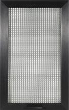telaio in alluminio anodizzato e vetro retinato