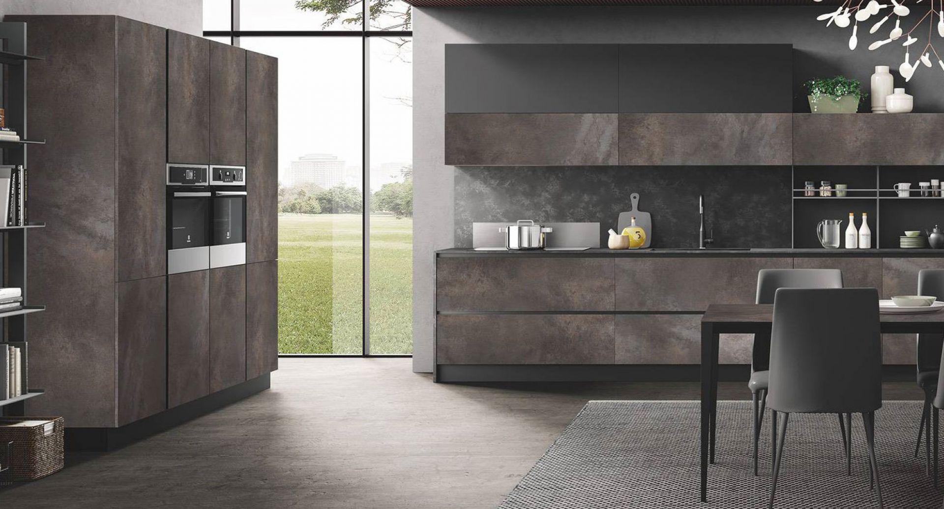 cucina moderna di design Star pietra terra grafite opaco