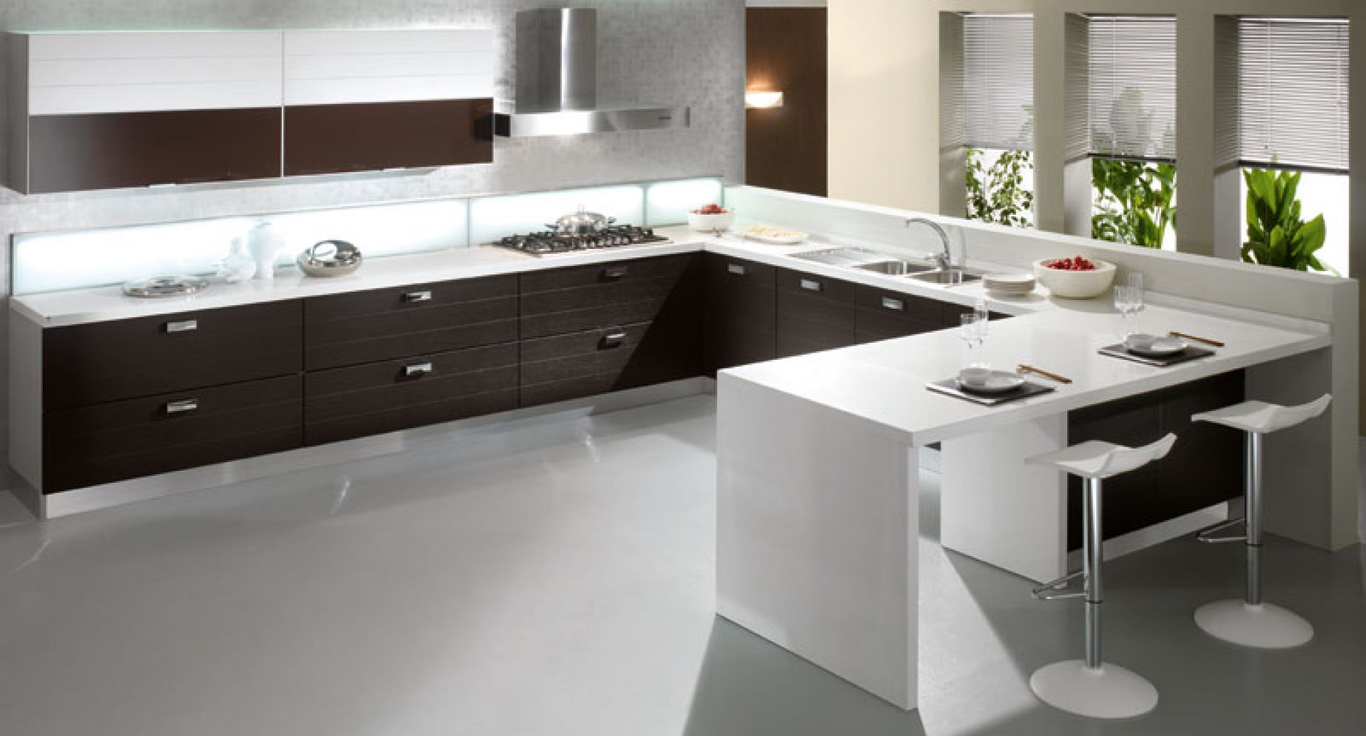 Έπιπλα κουζίνας 07 Bianco Wenge
