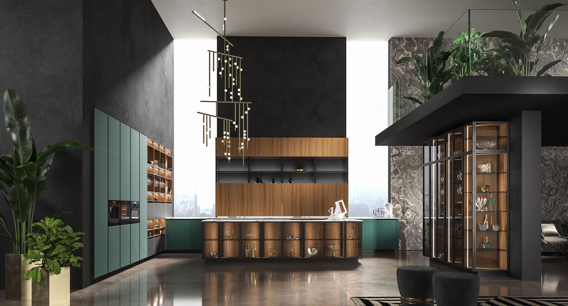 Cucine moderne WAY Snaidero verde alpi
