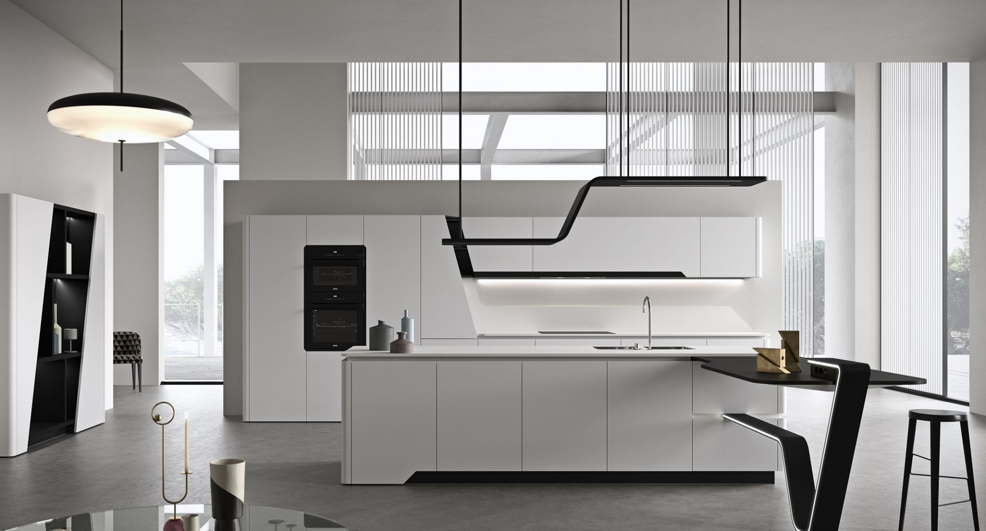 Snaidero luxury kitchens with island - Vision - picture 1