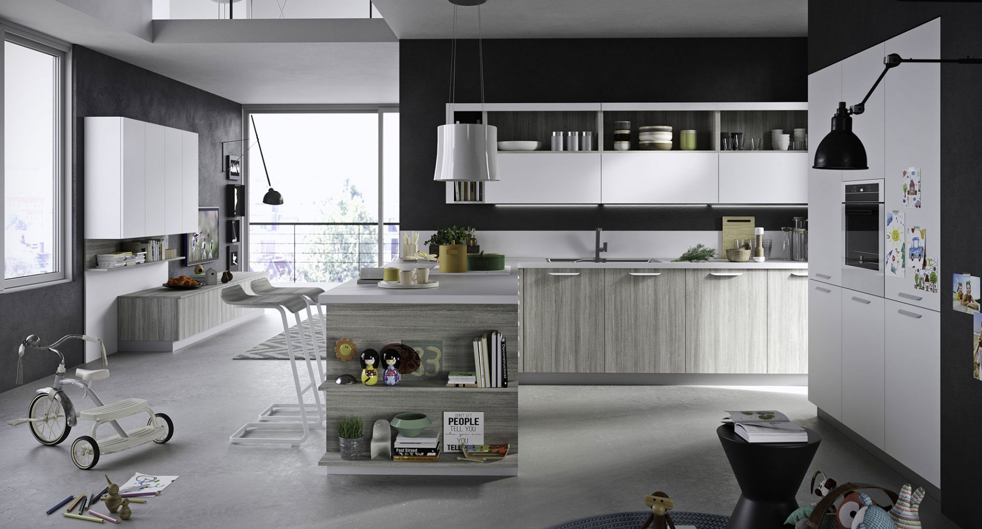 Economic design kitchens Snaidero - Fun