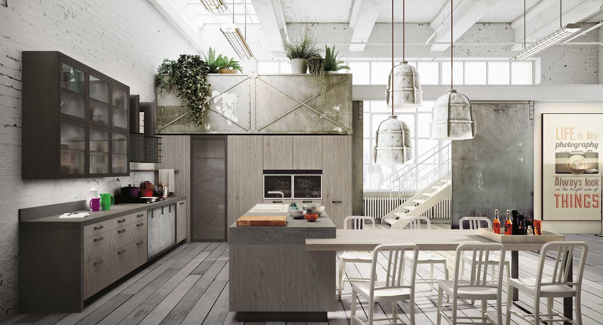 Wooden design kitchens Snaidero - Loft - photo 4