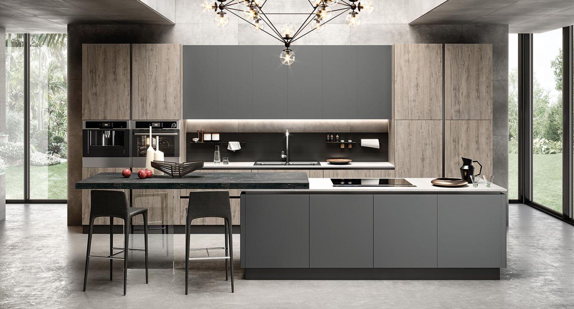evo-cucina-eos-aleve-acero-glass-grigio-opaco