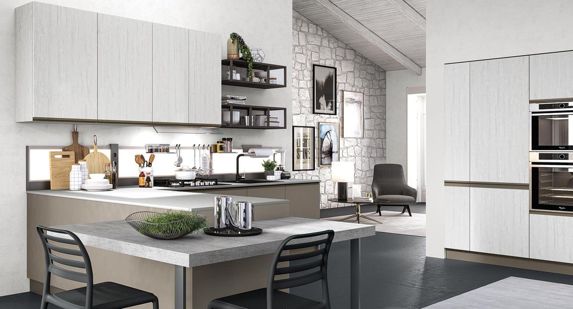 cucina moderna maia argento e fango opaco 02
