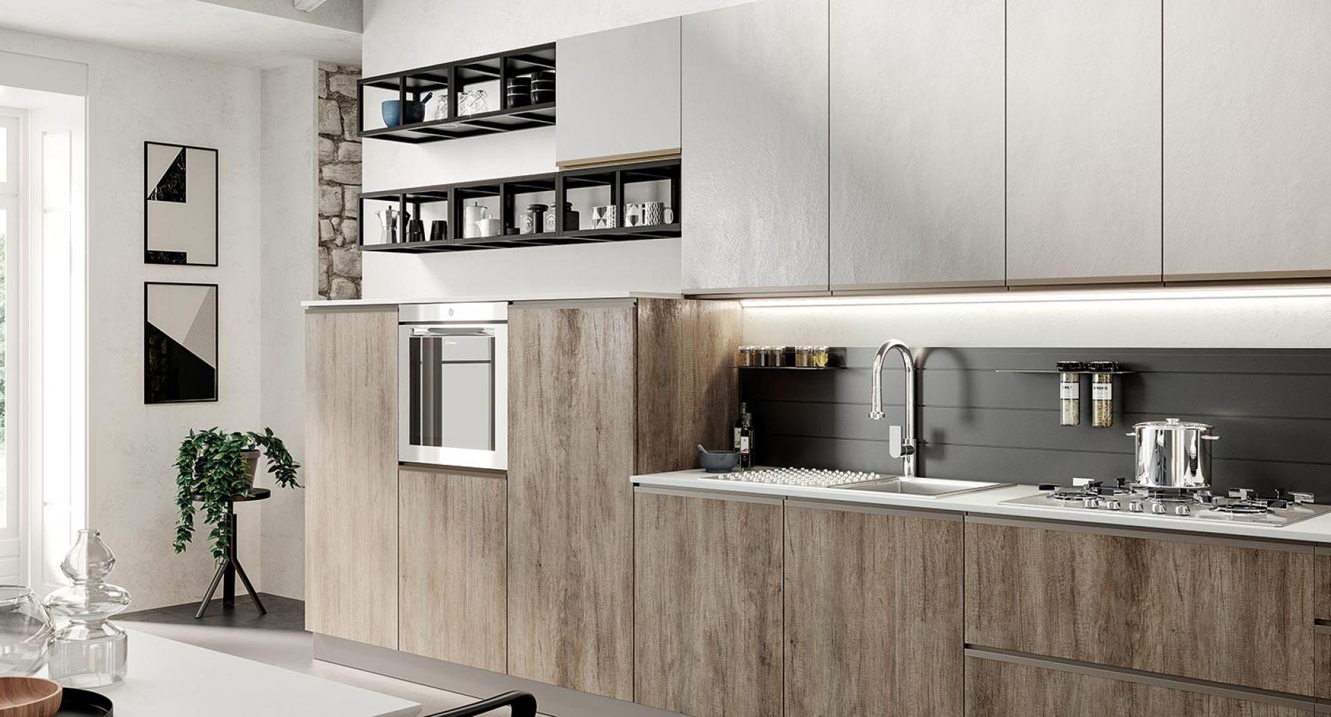 cucina moderna maia cemento grigio legno naturale 01